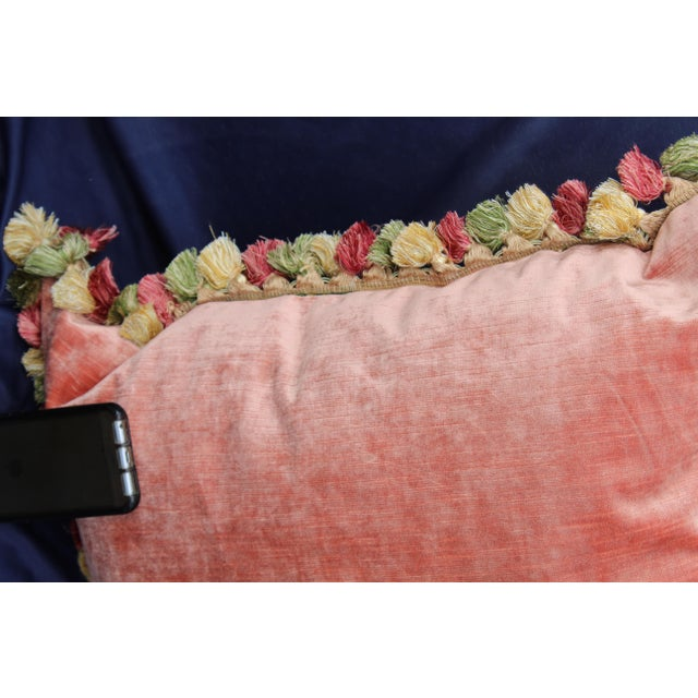 Late 20th C. Italian Silk Velvet Scalamandre Pillow For Sale In San Diego - Image 6 of 7