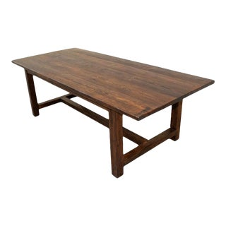 Rustic Harvest Table Made From Reclaimed Pine For Sale