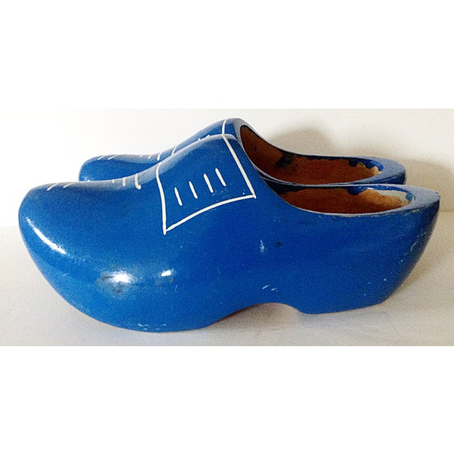 Mid-Century Modern Pair of Children's Dutch Shoes For Sale - Image 3 of 5