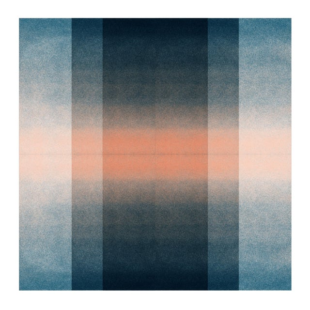 Contemporary Jessica Poundstone Blush Pink & Midnight Blue [Color Space Series] Print For Sale - Image 3 of 3