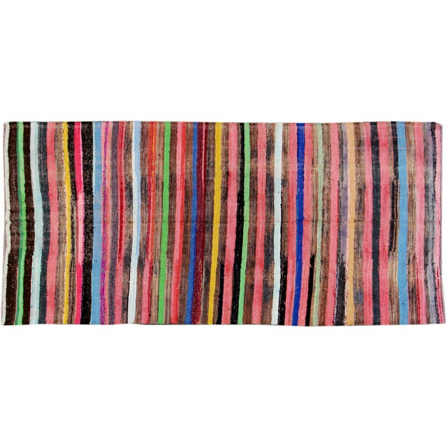 Apadana - Cotton Turkish Kilim Rug - 6' x 13' For Sale