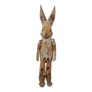 Articulated Wooden Rabbit