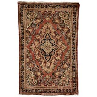 20th Century Rustic Persian Mahal Rug - 4′1″ × 4′2″ For Sale