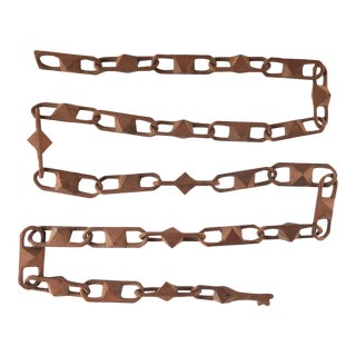 1920s Folk Art Hand Carved Wood Chain For Sale