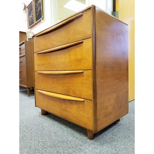 Chest is marked with the maker name on the inside drawer & dated 1954 on the backside. It's solid birch with a darker...
