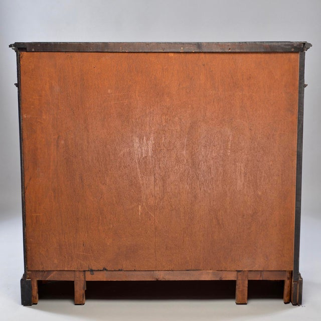 Art Deco Ebonized Cabinet With Aluminum Trim and Glass Doors For Sale - Image 10 of 11