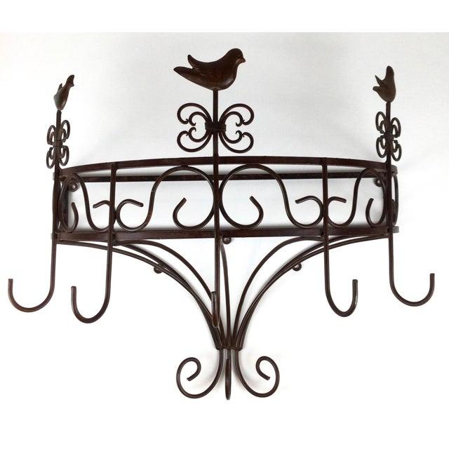 Vintage Steel Wall Pan Holder Shelf For Sale - Image 13 of 13
