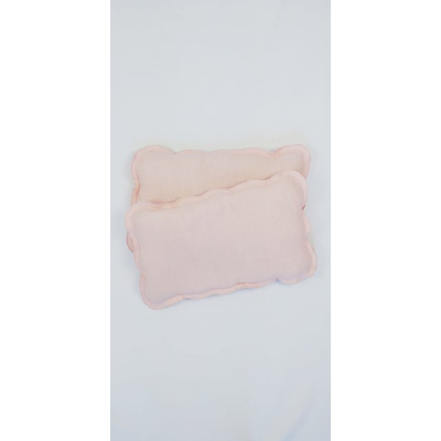 2020s Vintage Pink Chair Pillows - a Pair For Sale - Image 5 of 5