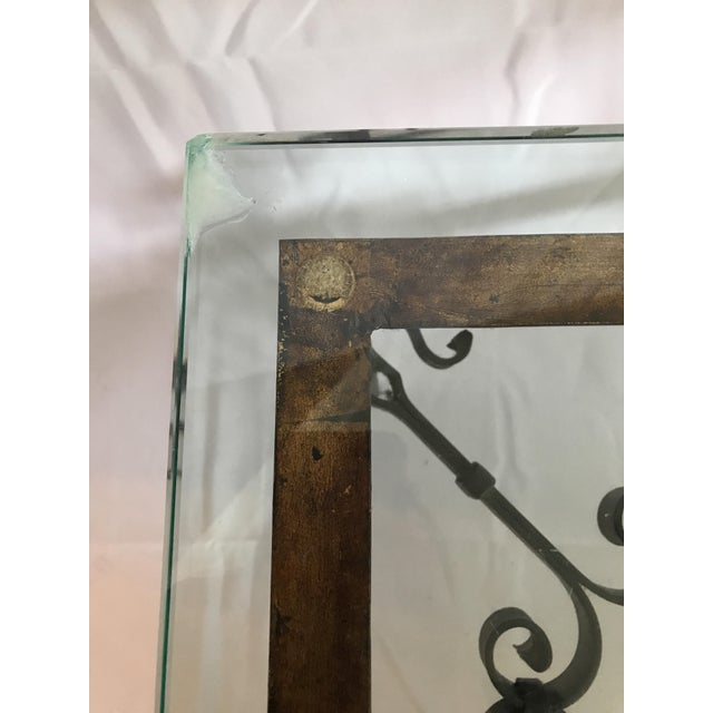 1960's Mid Century Modern Marshall Fields Spanish Revival Style Wrought Iron Side Table For Sale In Chicago - Image 6 of 10