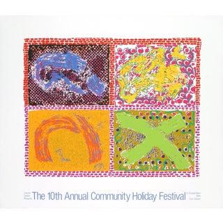 Nancy Graves Community Holiday Festival '80 Poster For Sale