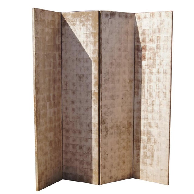 1970s Hand Painted Wood Room Divider For Sale - Image 5 of 5