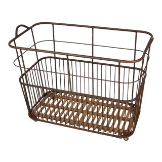 1920 Antique French Bread Trolley