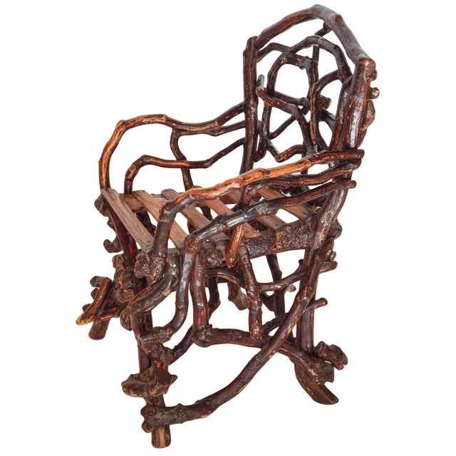 Adirondack Twig Chair For Sale - Image 3 of 10