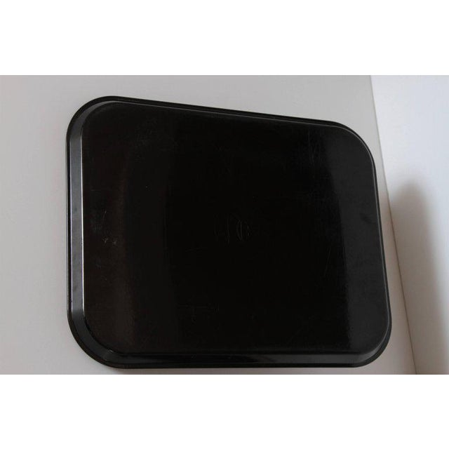 Black Machine Age Art Deco Micarta Tray Set by George Switzer for Westinghouse For Sale - Image 8 of 11