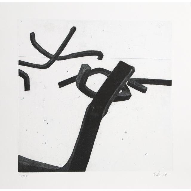 """Contemporary Bernar Venet, """"4 From Combinaison Aléatoire De Lignes Indéterminées"""", Minimalist Etching For Sale - Image 3 of 3"""