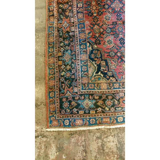 Vintage Persian Sarouk Rug- size 9x10 ft For Sale - Image 5 of 11