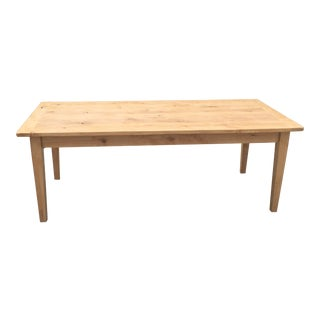 Late 20th Century Vintage Custom Made Alder Dining Table For Sale