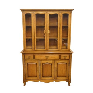 "20th Century Traditional Drexel Heritage Breton Collection 48"" China Cabinet For Sale"