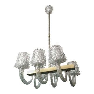 Rostrato Chandelier by Barovier e Toso For Sale