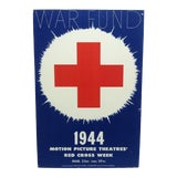 """Image of Late 20th Century """"War Fund - 1944"""" Mounted Red Cross Print For Sale"""