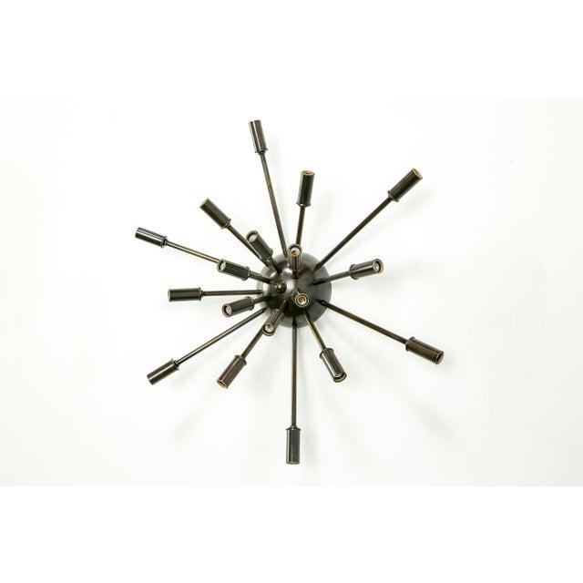 Metal Sputnik Flush Mount / Sconce in Brass or Bronze Finish For Sale - Image 7 of 9