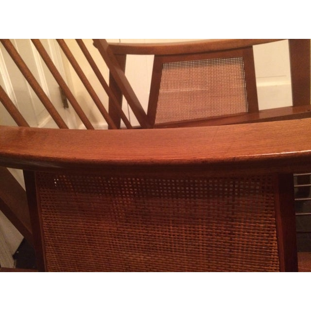 Mid-Century Low-Slung Wood Arm Chair For Sale - Image 9 of 11