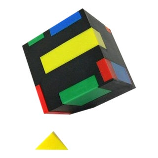 "1980s Modernist ""Magic Cube"" Office Supplies Desk Box For Sale"