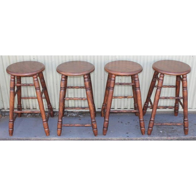 Set of Four Matching Bar Stools For Sale - Image 9 of 10