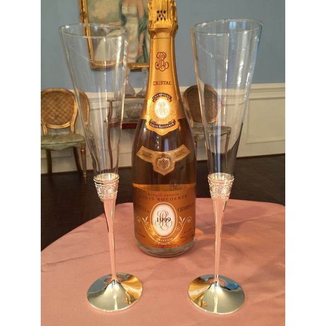 Contemporary Vera Wang Silver Toasting Flutes - A Pair For Sale - Image 3 of 6