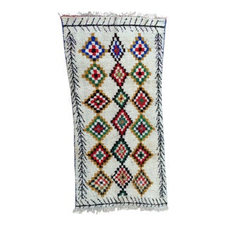 1980s Vintage Azilal Rug- 4′ × 6′11″ For Sale