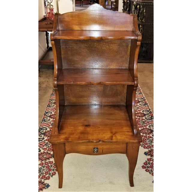18th Century French Country Cherrywood Side Table or Open Case For Sale - Image 11 of 11