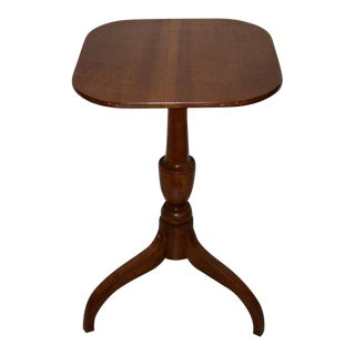 Early 19th Century American Maple Federal Style Candle Stand C.1820 For Sale