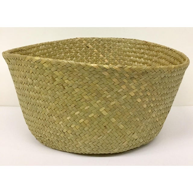 Natural Straw Collapsible Basket For Sale - Image 11 of 12