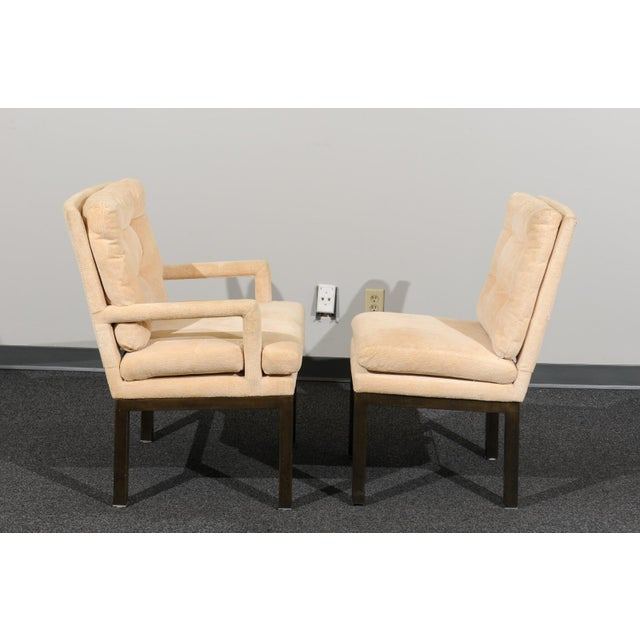 Mid-Century Modern Sophisticated Set of 10 Brass Parsons Dining Chairs by John Stuart, Circa 1968 For Sale - Image 3 of 13