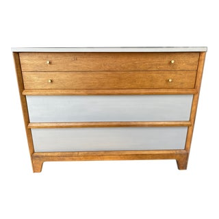 Mid-Century Modern Painted Gray Dresser For Sale