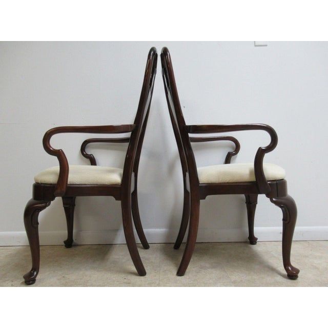 Ethan Allen Georgian Court Queen Anne Dining Room Arm Chairs