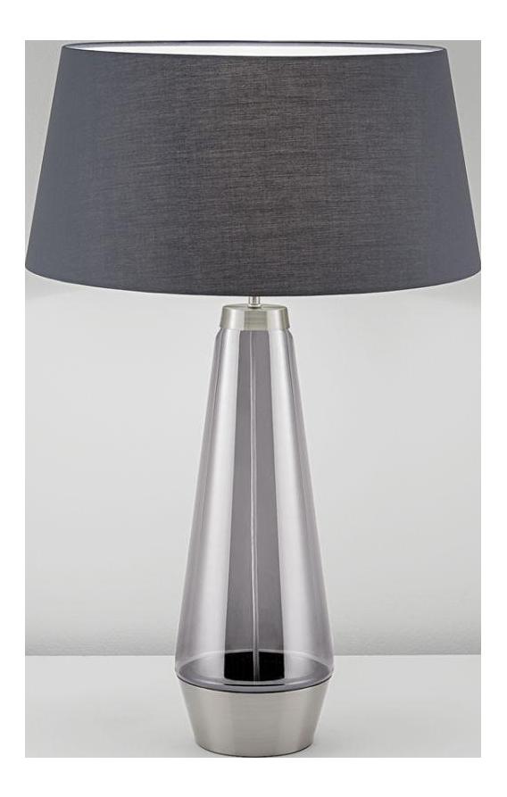 Brushed Nickel (Bn) With Iridescent Smoke Glass Lamp