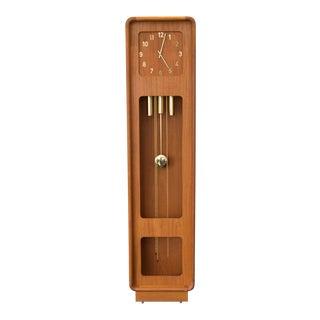Rare Teak Westminster Grandfather Clock