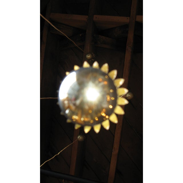 Set of eight brass pendant lights For Sale - Image 4 of 4