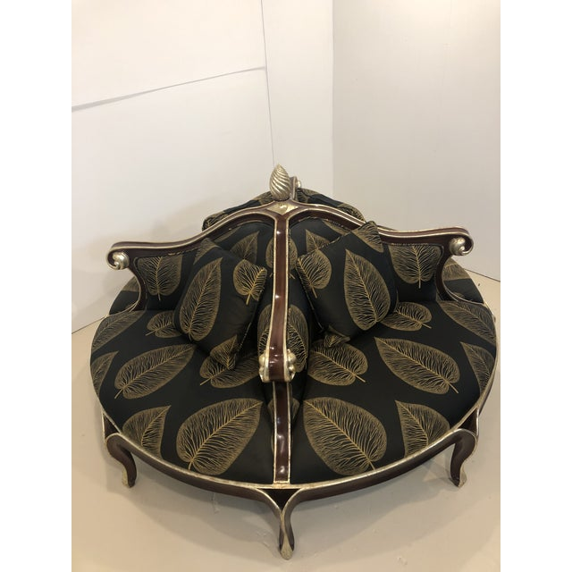 Black Late 20th Century Christopher Guy Louis XV Style Confidante Sofa For Sale - Image 8 of 10
