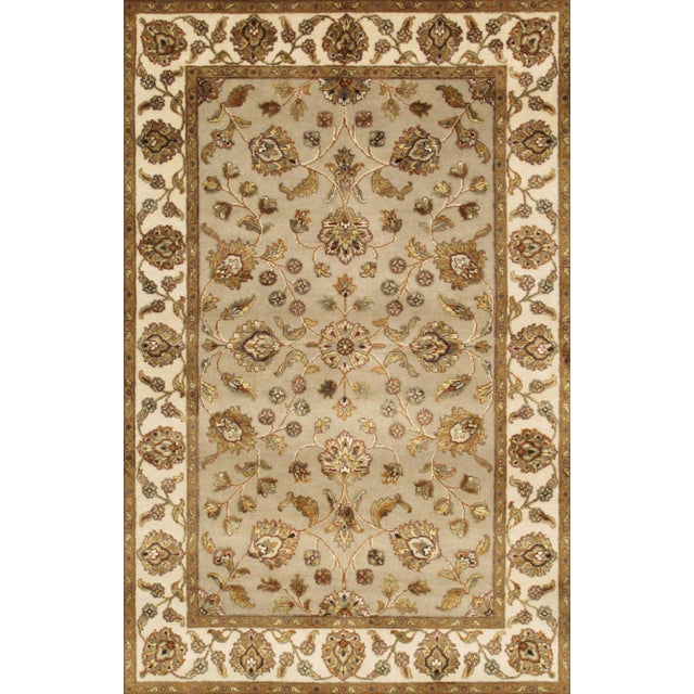 "Pasargad Agra Silk & Wool Rug - 4'1"" x 6' For Sale"