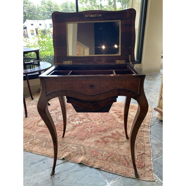 Brown 19th Century French Louis XV Style Vanity For Sale - Image 8 of 13