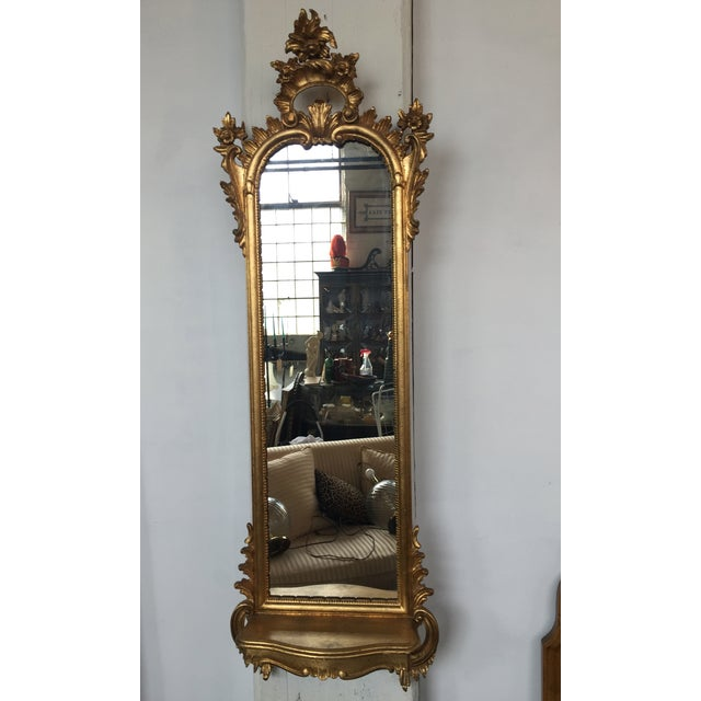 Italian Rococo Gilt Tall Mirror by La Barge - Image 7 of 10