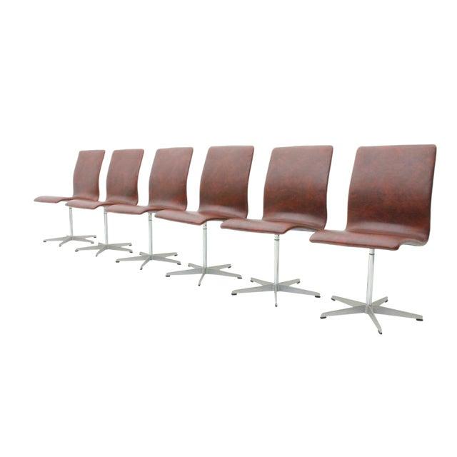 6x Arne Jacobsen Oxford Chairs by Fritz Hansen Denmark For Sale