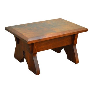 Studio Crafted Solid Walnut Small Stool