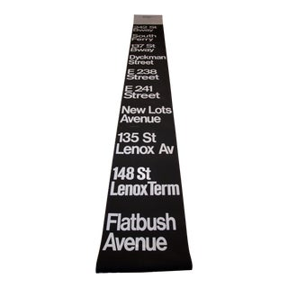 1980s New York City Subway Roll Sign For Sale