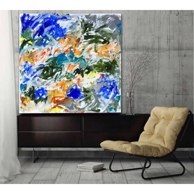 White 'Tidings' Original Abstract Painting by Linnea Heide For Sale - Image 8 of 9
