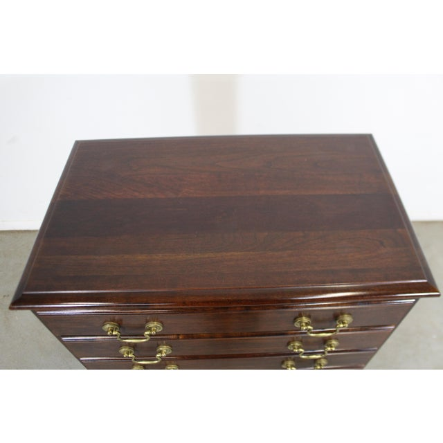 1990s Vintage Chippendale Statton Attributed Old Town Cherry Silver Chest For Sale - Image 5 of 13