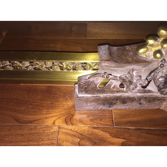 19th Century Bronze & Brass Chenets With Fender - a Pair For Sale - Image 9 of 13