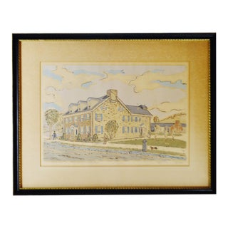 1941 Vintage Framed Fredrick K. Detwiller Print For Sale